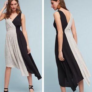 NEW! Maeve Elisabel Asymmetrical Midi Dress XL